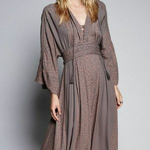 Free People Modern Kimono Maxi Dress Size 2